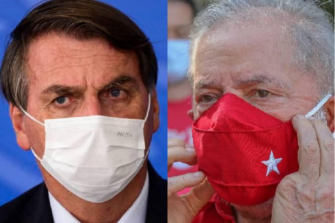 A XP/Ipespe também realizou simulações sobre a sucessão de 2022. Bolsonaro e Lula polarizam a disputa para o Palácio do Planalto.